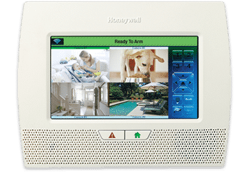 image of a home security system digital control panel