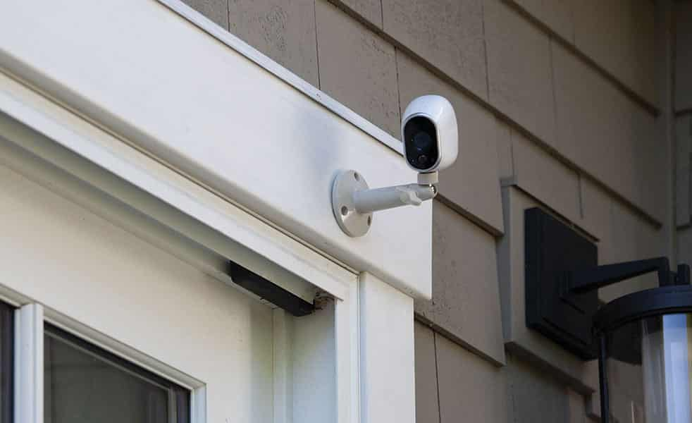 image of a residential CCTV camera