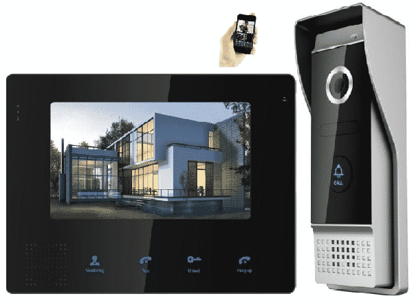 image of a residential doorbell intercom system