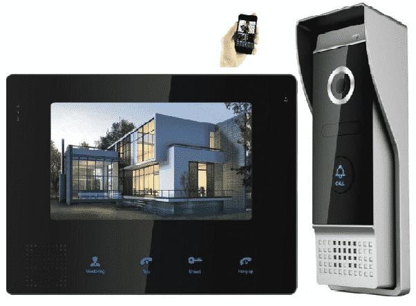 image of a residential doorbell intercom system