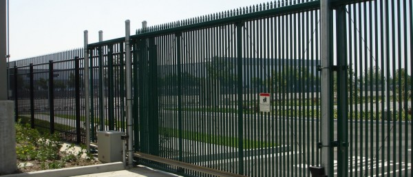 image of a large commercial-type security gate