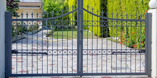 image of a decorative residential security gate