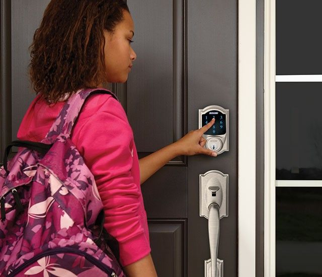 image of a keypad smart locks on your home's front door.