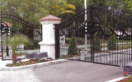 image of a commercial-grade security gate