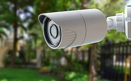 image of a home surveillance camera