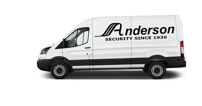 image of the Anderson Access locksmith van